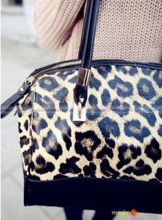 Women Fashion Vintage Sexy Leopard Grain Bucket Shoulder Bag New