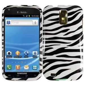 Samsung Hercules T989 Black Zebra Hard Case Cover