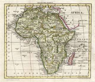 Antique Map AFRICA HOTTENTOTS EGYPT NUBIA Walker 1810