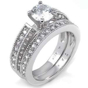 Perfectly Designed Silver Wedding Ring Set, Crafted with Top Quality