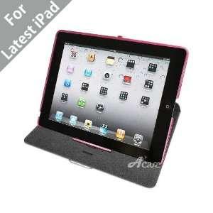(TM) iPad 3 (The New iPad) Vader Leather Case Folio for Apple iPad