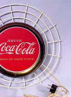 DRINK Coca Cola SIGN OF GOOD TASTE GLASS & WIRE LIGHTED SIGN 1965 RARE