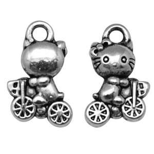 DIY Jewelry Making 12x Zinc Alloy Hello Kitty Pendants