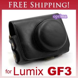 Leather Case Bag for Panasonic LUMIX DMC GF3C 13.1 MP Digital Camera