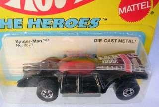 Hot Wheels 1979 The Heroes Series SPIDERMAN CAR Black MOC