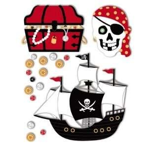 Sandylion Essentials Medium Dimensional Stickers, Pirate