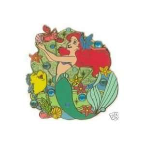 Disney Pin/Little Mermaid & Flounder Jeweled Pin
