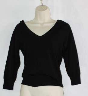 Banana Republic Sweater Top Shirt Front & Back V Neck Fine Guage Knit