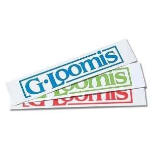 G loomis Neon Red 8 Block logo Window Sticker Sports