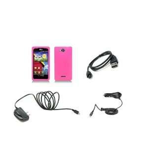LG Lucid (Verizon) Premium Combo Pack   Pink Silicone Soft