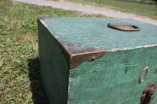 Antique Wood Fishing Tackle Box + Vintage Lures South Bend Creek Chub