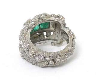 18K GOLD, DIAMONDS & EMERALDS ORANTE VINTAGE BAND RING