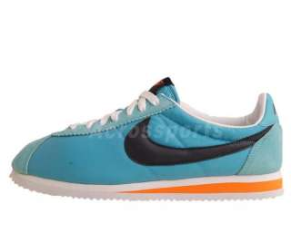 Nike Classic Cortez Nylon 09 Blue Black Orange 2011 Retro Running Shoe