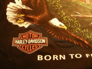 HARLEY DAVIDSON T SHIRT BORN TO FREEDOM DATE 1992 XL