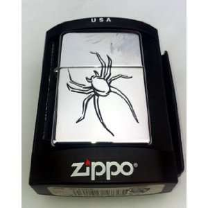 com Zippo Custom Lighter   Black Widow Spider High Polish Chrome Logo