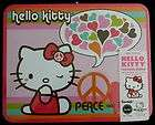 HELLO KITTY METAL LUNCH BOX PEACE and LOVE Sanrio PUZZLE RARE