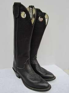 Vtg OLATHE BUCKAROO Tall WESTERN COWBOY BOOTS 8 1/2 8.5 A RANCH WORK
