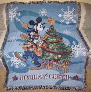 Mickey Mouse Goofy Donald Duck Christmas Blanket Disney