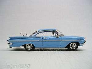 1959 Chevrolet Impala Hardtop Sport Coupe Blue 132 Die Cast
