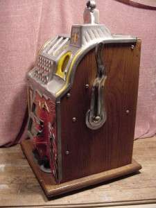 1931 Antique MIlls 5 Cent Lion Head Slot Machine