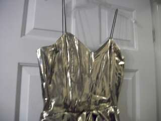 Gold lamay and black velvet cocktail dress NEW size 8   REDUCED