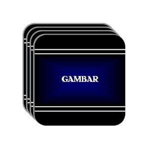 Personal Name Gift   GAMBAR Set of 4 Mini Mousepad Coasters (black