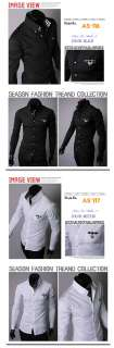 Mens Casual SHIRTS KOREA STYLE Slim fitted Dress Shirts Size US XS~M