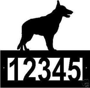 Custom GERMAN SHEPHERD dog ADDRESS SIGN Steel Metal Art