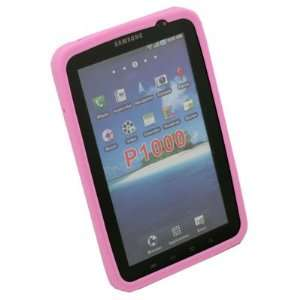 Pink Silicone Skin Case For Samsung Galaxy Tab P1000