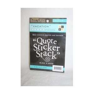 Scrapbooking quote sticker stack vacation ÿ10 sheets