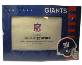NFL New York Giants Picture Frame & Greeting Card, NEW 746193660156
