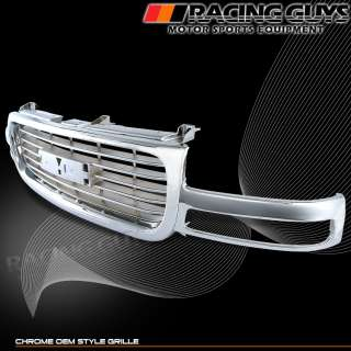 99 00 01 02 GMC SIERRA CHROME OEM GRILLE GRILL 1500 NEW
