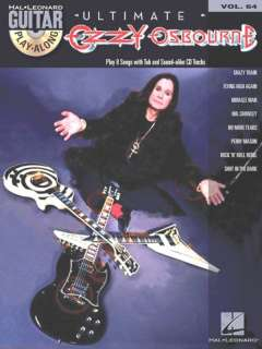 Hal Leonard Ultimate Ozzy Osbourne   Guitar Play Along 884088089405