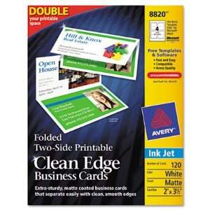 Avery Clean Edge Inkjet Business Cards AVE8820 Office