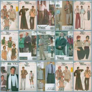 Vogue Mens Clothing Sewing Pattern G8 Fathers Day Gift