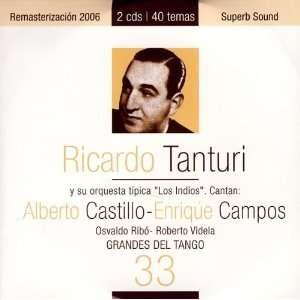 Grandes Del Tango 33 Ricardo Tanturi Music