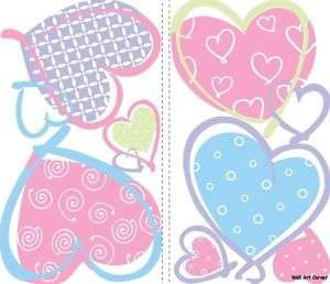 Heart Shapes Kids/Girls Room Vinyl Wall Sticker Decal