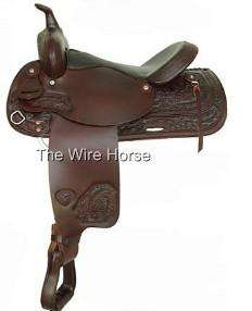 NEW Tex Tan Gresham Trail Saddle 17 Chocolate