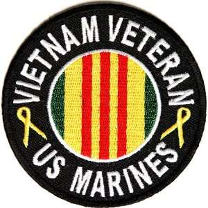 Marines Vietnam Patch Round, 3 inch, small embroidered