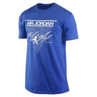 Air Jordan Nike Jumpman Classic FLIGHT Blue Graphic T shirt Mens