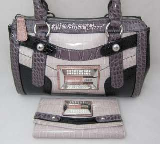 GUESS KOREN Rhinestones Logo Bag Purse Handbag Satchel Sac Wallet New