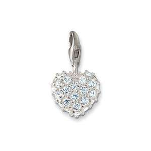 Sabo Glittering Heart Charm, Sterling Silver Thomas Sabo Jewelry