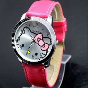 Brand New Hello Kitty Large Face Quartz Watch   Hot Pink Band + Hello