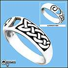 New Sterling Silver Celtic Knot Spiral Band Ring SZ 10