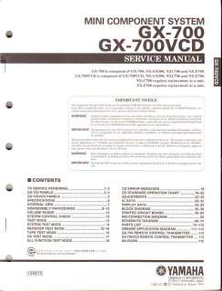 Yamaha ORIGINAL Service Manual GX 700 700VCD FREE US SH