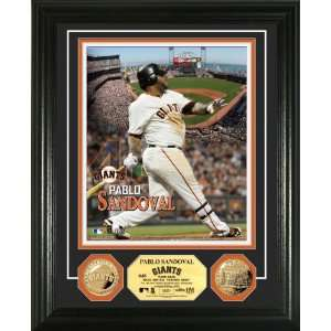 San Francisco Giants Pablo Sandoval Gold Coin Photo Mint