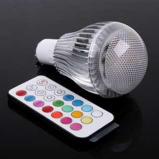 4W/9W GU10/MR16/B22/E27 RGB LED Light Bulb 2 Million Colors + Remote