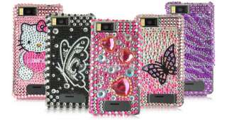 PINK HELLO KITTY BLING CASE FOR MOTOROLA DROID X M8810