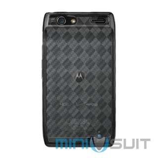Case Cover for Motorola Droid Razr 4G LTE (Plaid Argyle Smoke)