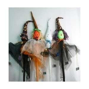 Halloween Decorations pick cat ghost witch pumpkin